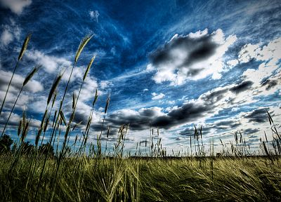 clouds, nature, HDR photography, crops - random desktop wallpaper