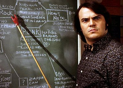 Jack Black, chalkboards, School of Rock, Dewey Finn - random desktop wallpaper