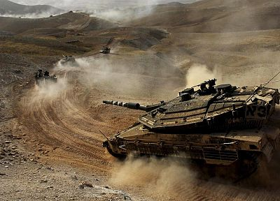 sand, Israel, merkava, tanks, dust, roads, idf - random desktop wallpaper