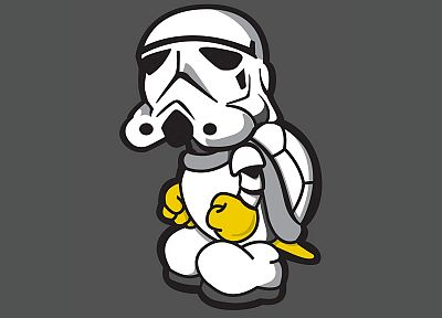 artwork, Koopa, Storm Trooper - random desktop wallpaper