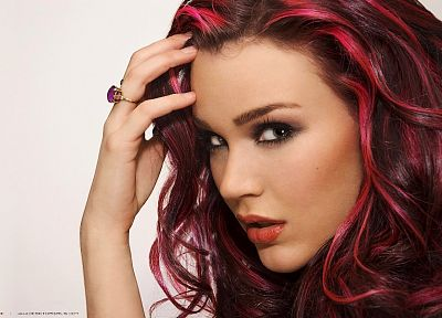 women, purple hair, Joss Stone - random desktop wallpaper