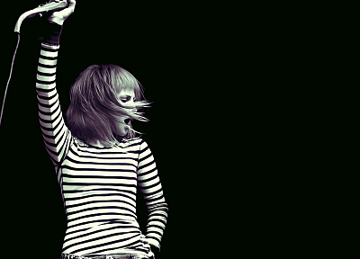 Hayley Williams, Paramore, women, celebrity, singers, monochrome - random desktop wallpaper