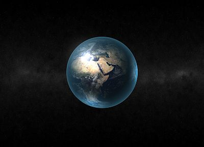 outer space, stars, planets, Earth, north, continents, Africa - related desktop wallpaper