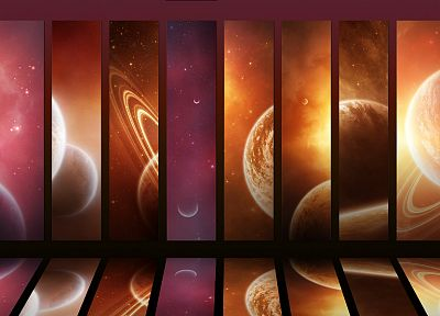 outer space, planets, mosaic - related desktop wallpaper