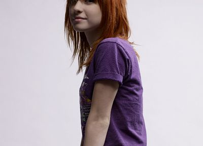 Hayley Williams, Paramore, music, redheads, singers, white background - desktop wallpaper