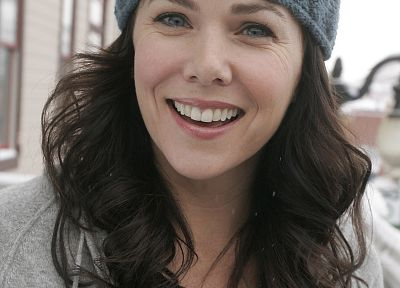 Lauren Graham, smiling, teeth - random desktop wallpaper