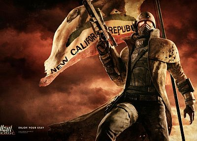 rifles, video games, weapons, artwork, Fallout: New Vegas, Bethesda Softworks - desktop wallpaper