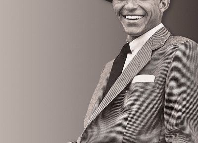 suit, Frank Sinatra, hats - random desktop wallpaper