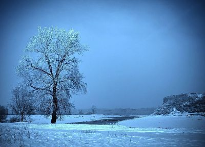 ice, winter, snow, trees, paths, frozen, outdoors - related desktop wallpaper