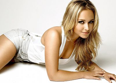 blondes, women, actress, Hayden Panettiere, models, celebrity, white background - random desktop wallpaper