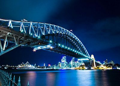 bridges, Sydney, rivers, Sydney Opera House, cities - random desktop wallpaper