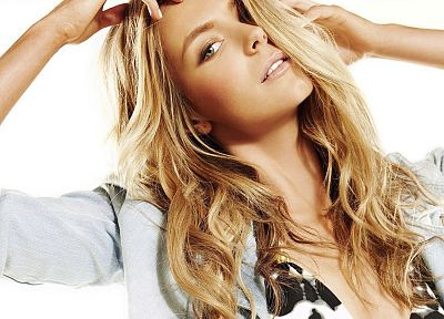 blondes, women, Jennifer Hawkins, faces - random desktop wallpaper