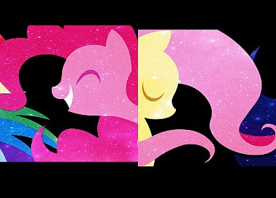My Little Pony, Fluttershy, Rainbow Dash, Twilight Sparkle, Rarity, multiscreen, Pinkie Pie, Applejack - related desktop wallpaper