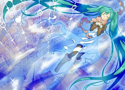 Vocaloid, Hatsune Miku, twintails - random desktop wallpaper