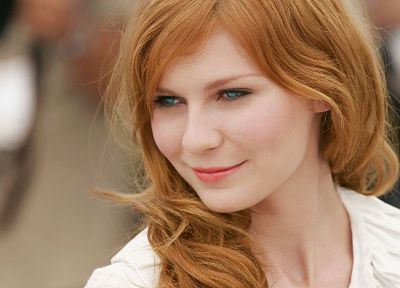 women, actress, redheads, celebrity, Kirsten Dunst - random desktop wallpaper