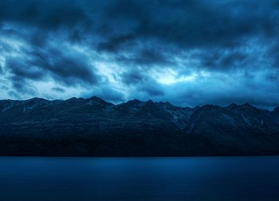 mountains, clouds, landscapes, nature, dusk - related desktop wallpaper