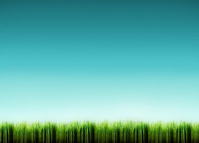 green, blue, nature, grass - desktop wallpaper