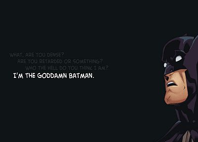 Batman, Goddamn Batman - random desktop wallpaper