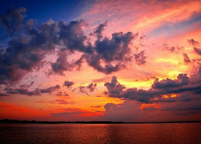 sunset, clouds, skyscapes, sea - related desktop wallpaper