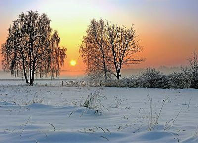 landscapes, winter, snow - random desktop wallpaper