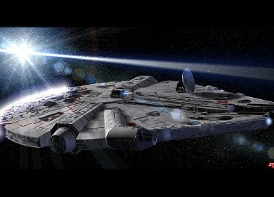 Star Wars, movies, spaceships, Millennium Falcon, vehicles - random desktop wallpaper