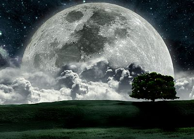 landscapes, night, Moon - random desktop wallpaper