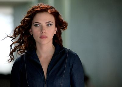women, Scarlett Johansson, actress, Black Widow, Iron Man 2 - desktop wallpaper