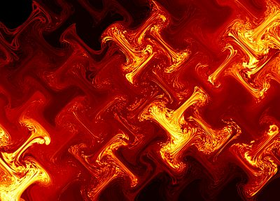 abstract, red, fire, glass - desktop wallpaper