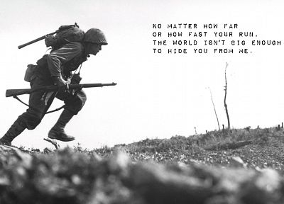 soldiers, death, quotes, grayscale, World War II - random desktop wallpaper