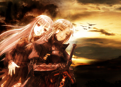Fate/Stay Night, armor, Type-Moon, Matou Sakura, anime girls, swords, Saber Alter, Dark Sakura, Fate series - related desktop wallpaper