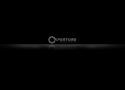 Portal, black, Aperture Laboratories, black background - related desktop wallpaper