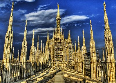 architecture, buildings, Milano, HDR photography, Duomo di Milano - desktop wallpaper