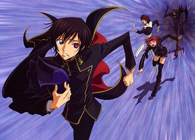 Code Geass, Kururugi Suzaku, Stadtfeld Kallen, Lamperouge Lelouch, Gottwald Jeremiah - related desktop wallpaper