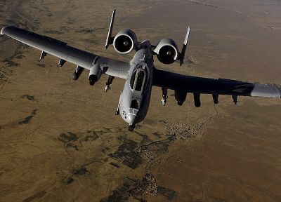 aircraft, military, airplanes, deserts, Warthog, Iraq, vehicles, A-10 Thunderbolt II, jet aircraft, A-10 - desktop wallpaper