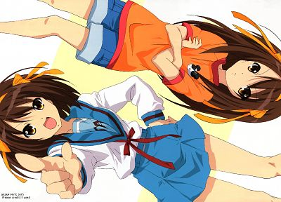 The Melancholy of Haruhi Suzumiya, Suzumiya Haruhi - random desktop wallpaper