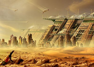 cityscapes, futuristic, buildings, artwork - related desktop wallpaper