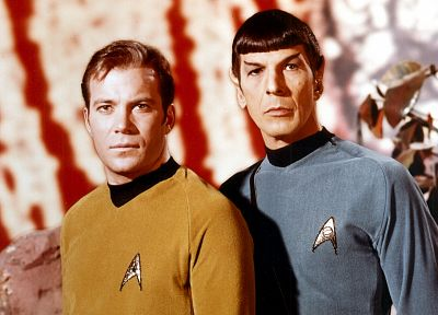 TV, Star Trek, Spock, James T. Kirk - related desktop wallpaper
