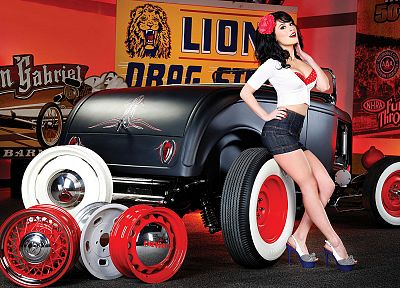 Hot Rod, pinups, pinstripe - random desktop wallpaper