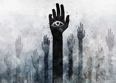 palm, grunge, hands, illuminati, Alex Cherry, arms raised - popular desktop wallpaper