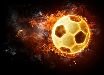 fire, soccer, balls - random desktop wallpaper