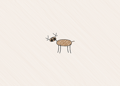 minimalistic, deer, artwork - desktop wallpaper