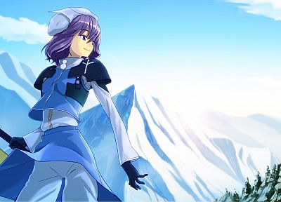women, winter, Touhou, Letty Whiterock - random desktop wallpaper