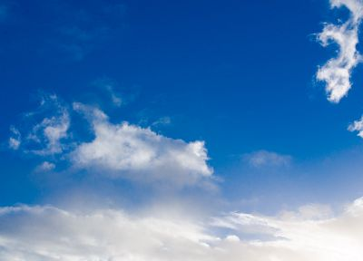 blue, clouds, landscapes, white, calm, relaxing, skyscapes, himmel - desktop wallpaper