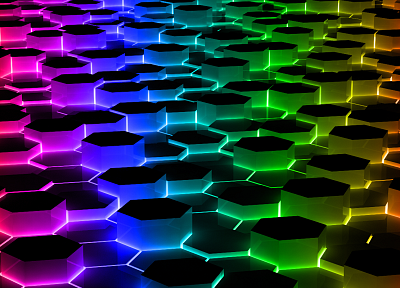 hexagons - random desktop wallpaper