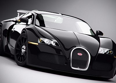cars, Bugatti Veyron, Bugatti, vehicles, supercars, black cars - random desktop wallpaper