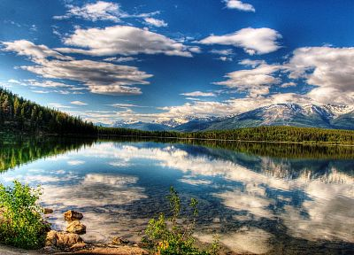 landscapes, lakes, skyscapes, reflections - related desktop wallpaper
