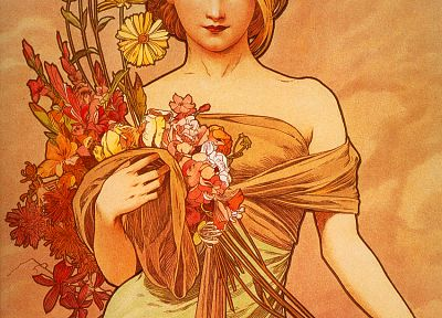 Alphonse Mucha, artwork - random desktop wallpaper