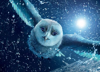 snow, owls, Legend Of The Guardians, movie posters - random desktop wallpaper