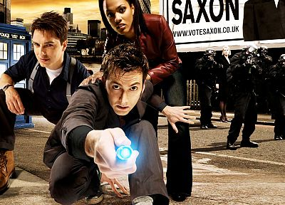David Tennant, Doctor Who, John Barrowman, Freema Agyeman, Martha Jones, Tenth Doctor - related desktop wallpaper