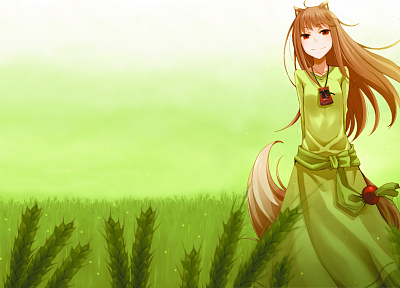 Spice and Wolf, animal ears, Holo The Wise Wolf, inumimi - random desktop wallpaper